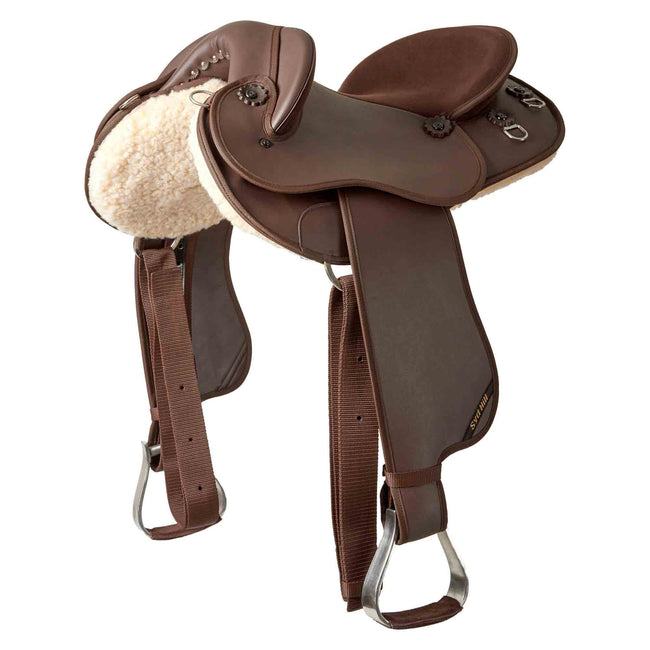 Syd Hill Half Breed Saddle Synthetic - Brown-Syd Hill & Sons