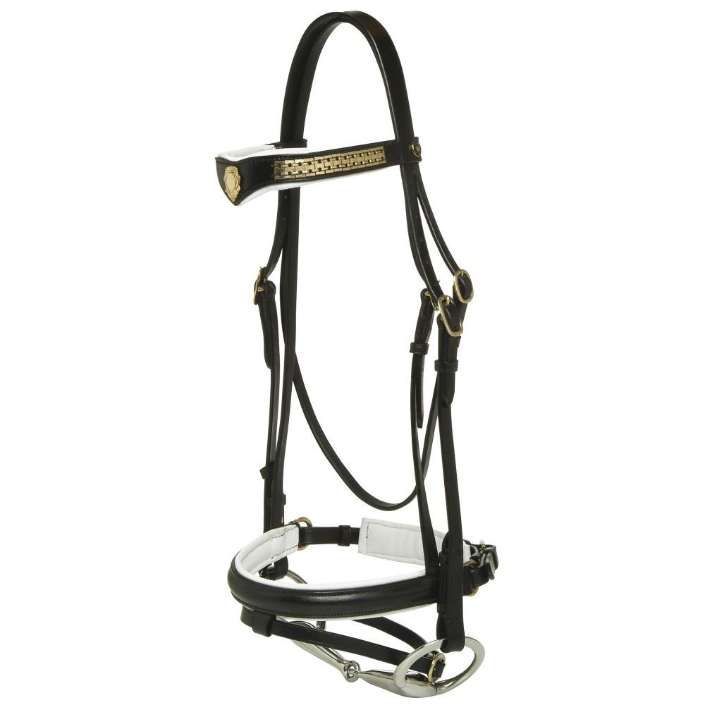 Padded Crank Hanoverian Bridle-Jeremy & Lord