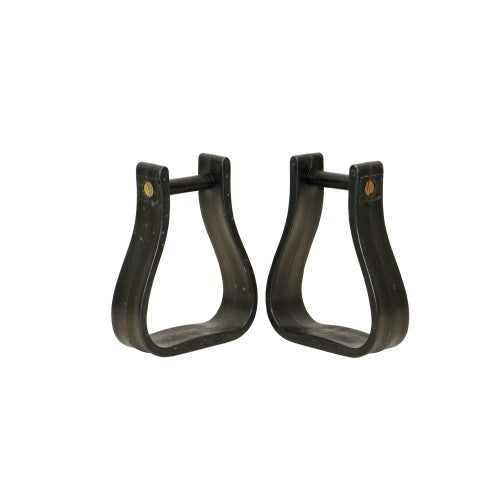 "Nylon Oxbow Stirrups w/2.5"" Top Black-STC"