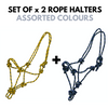 Rope Halters - Pack of 2-Ascot Equestrian