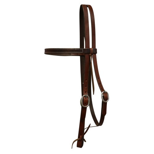 "Texas-Tack 3/4"" Oiled Pull-Up Work Headstall Tan-Texas-tack"