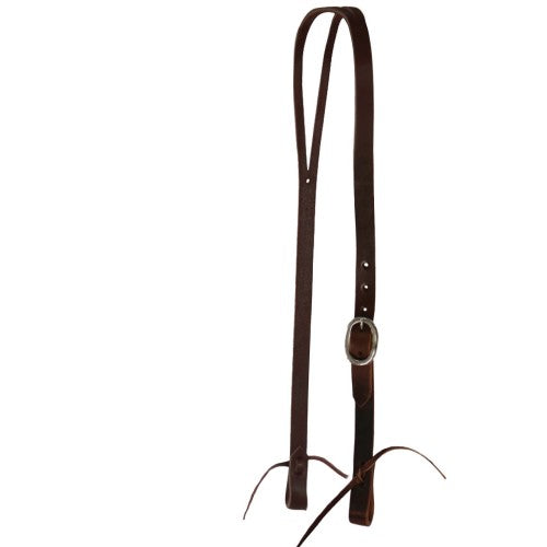"Texas-Tack 3/4"" Oiled Pull-Up Split Ear Headstall Tan-Texas-tack"