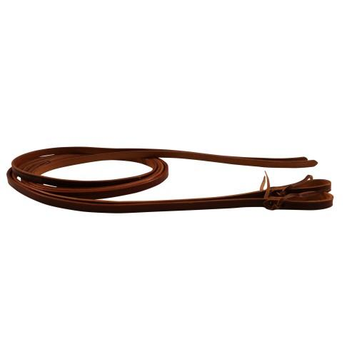 "Texas-Tack 5/8"" Oiled Pull-Up Split Reins 8' Tan (Out of Stock)-Texas-tack"
