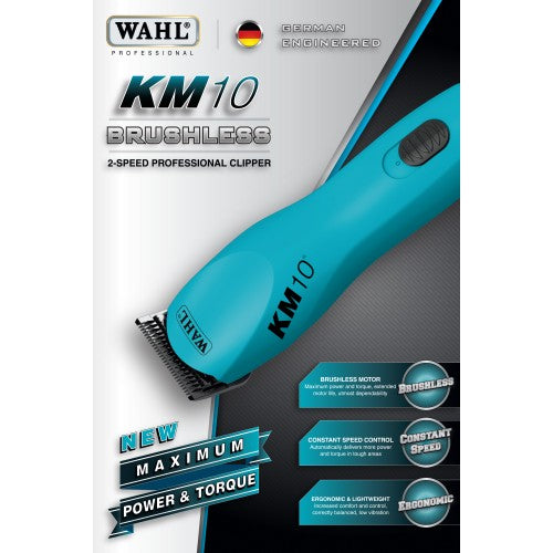 Wahl KM-10 Brushless Clipper w/ #10 Extra Wide Blade Set-Wahl