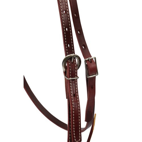 Weaver Latigo Headstall - Burgundy-WEAVER LEATHER