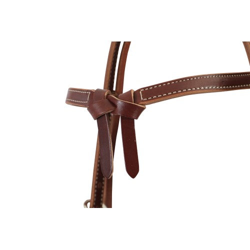 Weaver Deluxe Latigo Knotted Headstall-WEAVER LEATHER