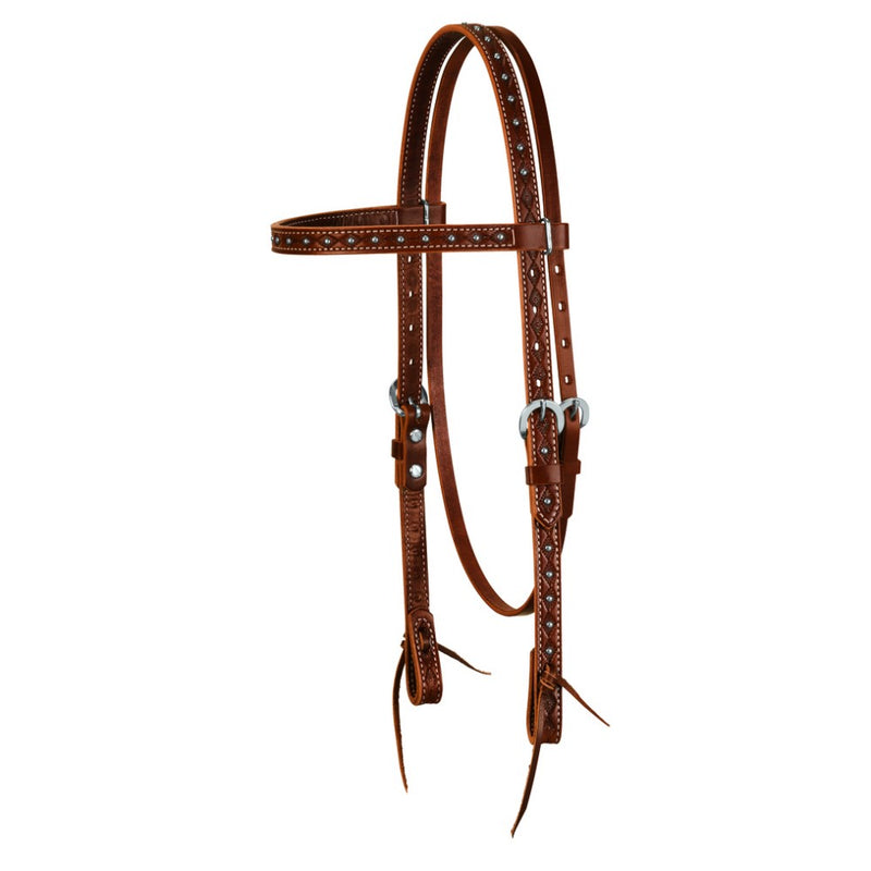 Weaver Navajo Tooled Headstall-WEAVER LEATHER