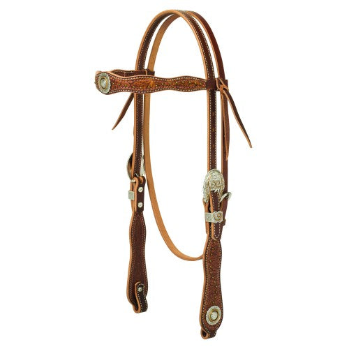 Weaver Western Edge Collection Headstall-WEAVER LEATHER