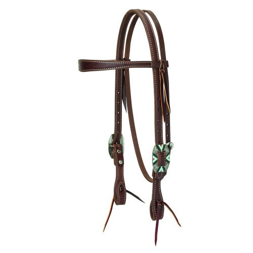Weaver Southwest Rope Edge Hardware Slim Cowboy Headstall-WEAVER LEATHER