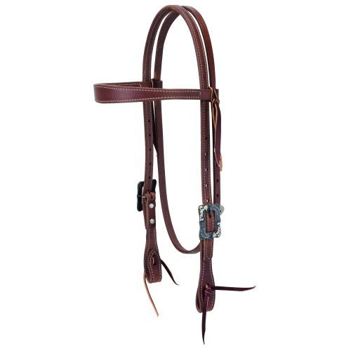 "Weaver 5/8"" Protack Contoured Browband Headstall-WEAVER LEATHER"