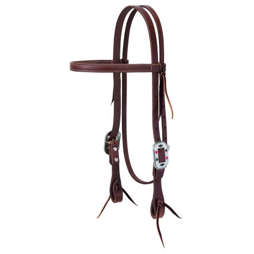 "Weaver 3/4"" Protack Card Browband Headstall-WEAVER LEATHER"