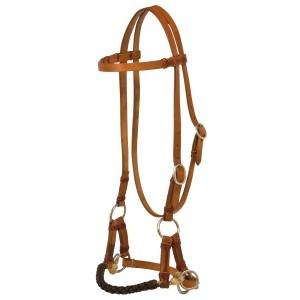 Texas-Tack Braided Nose Sidepull-Texas-tack