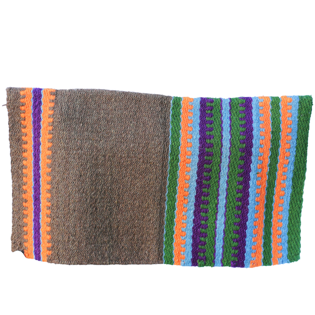 Heavy Duty Wool Blanket - Brown/Green