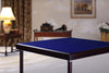Pelissier Premier card table with mahogany finish and blue baize