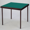 Pelissier Premier card table with mahogany finish and green baize