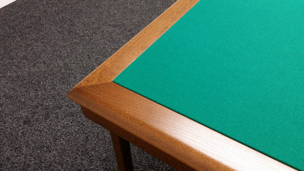 Pelissier Royal card table with walnut stained wood and green baize