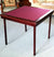 Pelissier Royal card table with mahogany finish and burgundy red baize