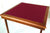 Pelissier Royal card table with walnut stained wood and burgundy baize
