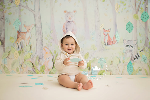 RENTAL Backdrop | Max's Woodland Friends