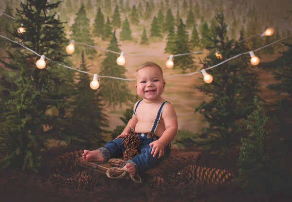 Photography Backdrop | Rustic Pine