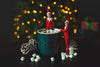 Elf on The Hot Cocoa | Holiday Digital Backdrop Bundle