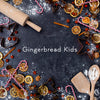 Gingerbread Kids | Holiday Digital Backdrop Bundle