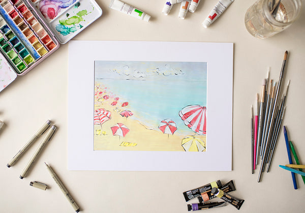 Day at the Beach - Fine Art Decor