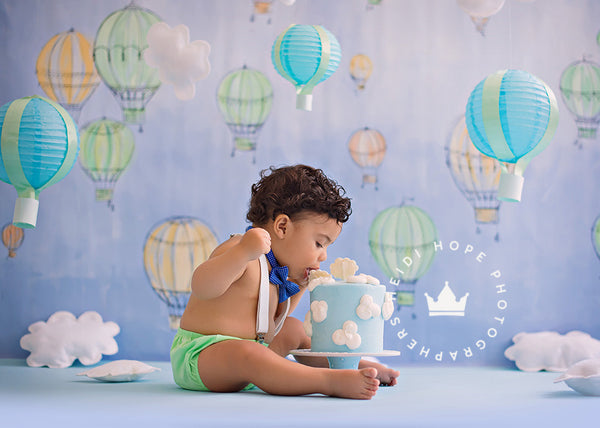 Photography Backdrop | Hot Air Balloons by Heidi Hope