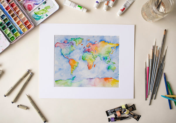 Rainbow Map - Fine Art Decor
