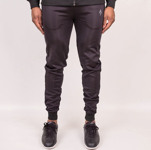 Black Polyester Essential Joggers