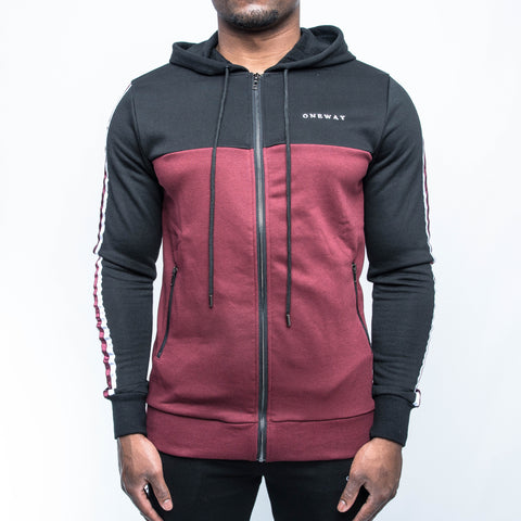 Black/Burgundy Hoody