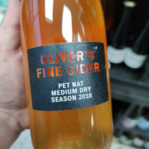 Oliver's Pet Nat Cider 2018 (750ml)