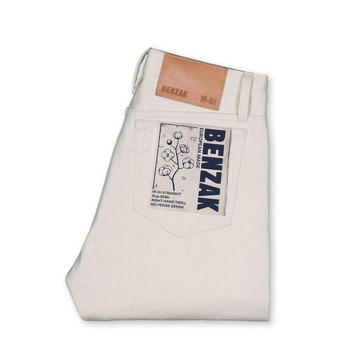 Benzak W-01 STRAIGHT 12 oz. ecru selvedge