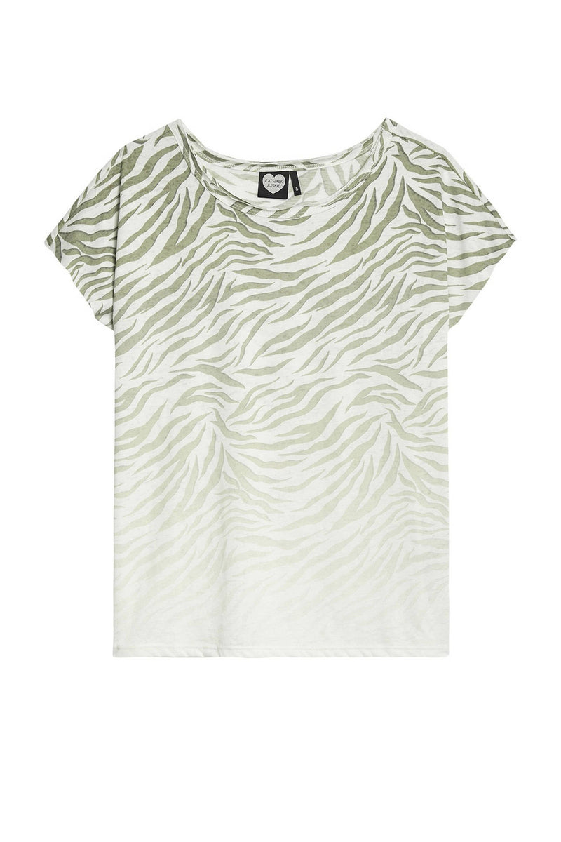 Catwalk Junkie Jungle Tiger T-Shirt Groen