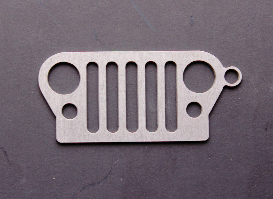 JEEP Grill Stainless Steel Keychain
