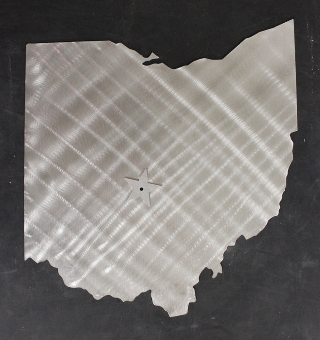 OHIO State Cutout Stainless Steel Wall Decor
