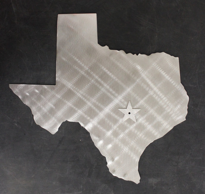 TEXAS State Cutout Stainless Steel Wall Decor