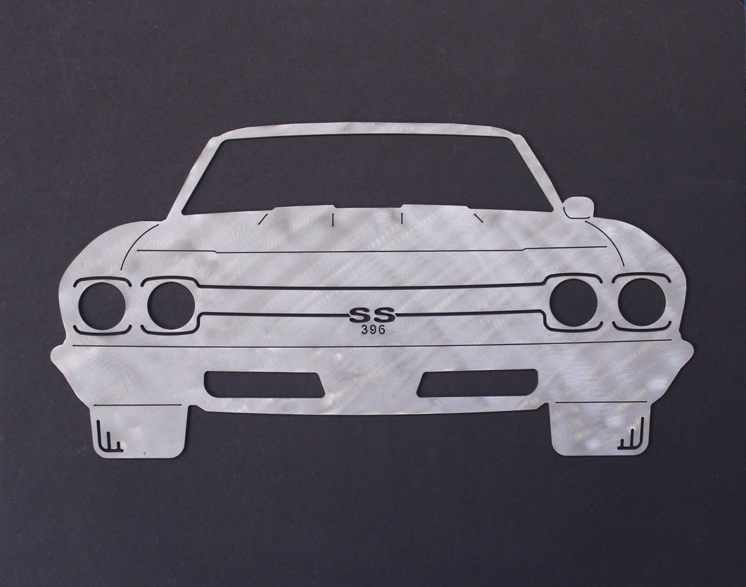 1969 Chevrolet Chevelle SS Silhouette Wall Decor