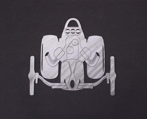 Nostalgia Front Engine Dragster Silhouette Wall Decor