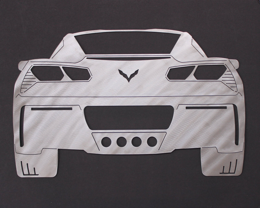 2017 Chevrolet Corvette Rear End Silhouette Wall Decor
