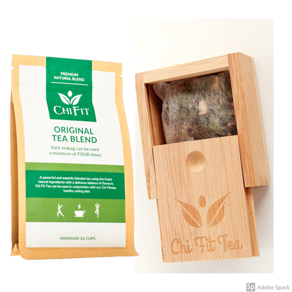 Start up Bundle: Chi Fit Original Tea Blend(min 56 cups of tea) and Bamboo Teabag box