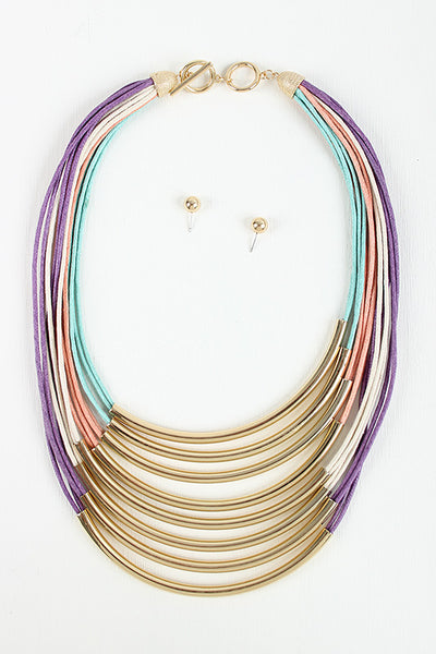 Colorful Tube Necklace