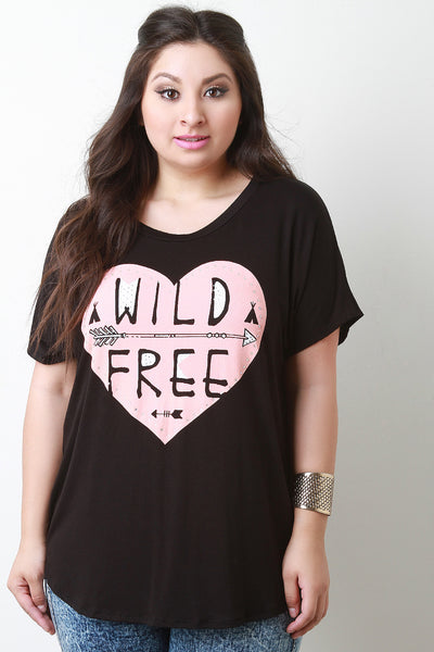 Wild Free Jersey Knit Short Sleeve Top