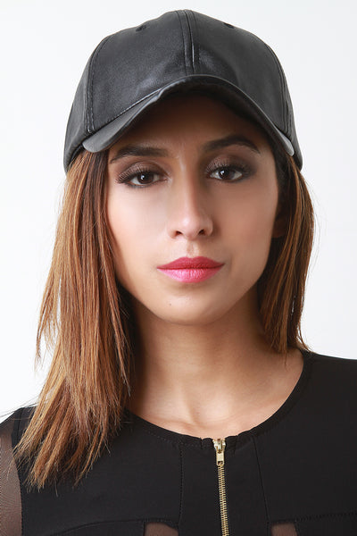 Vegan Leather Baseball Hat