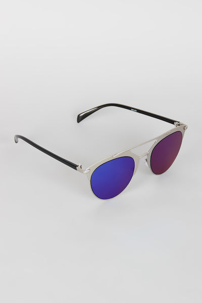 Double Bridge Matte Shooter Sunglasses