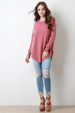 Slouchy Soft Knit Long Sleeve Top