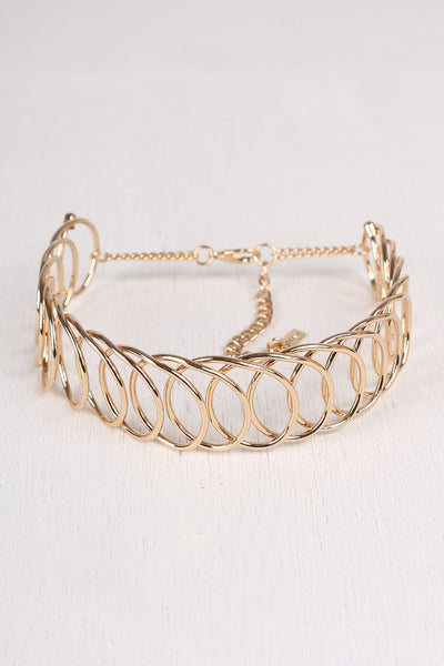 Spiral Wire Collar Choker Set