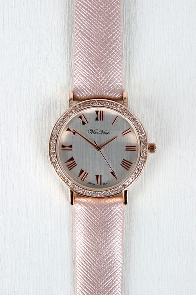 Glitz And Glam Vegan Leather Watch
