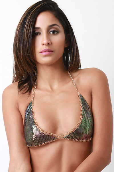 Chainmail Triangle Bralette Top