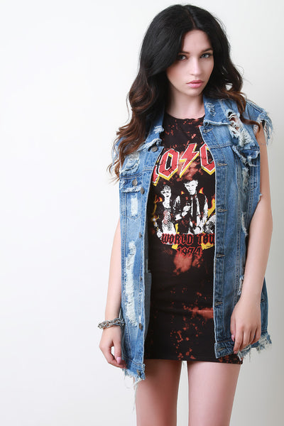 Distressed Boyfriend Denim Vest